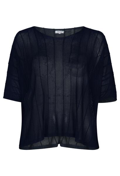 Blokvormige trui - Marineblauw