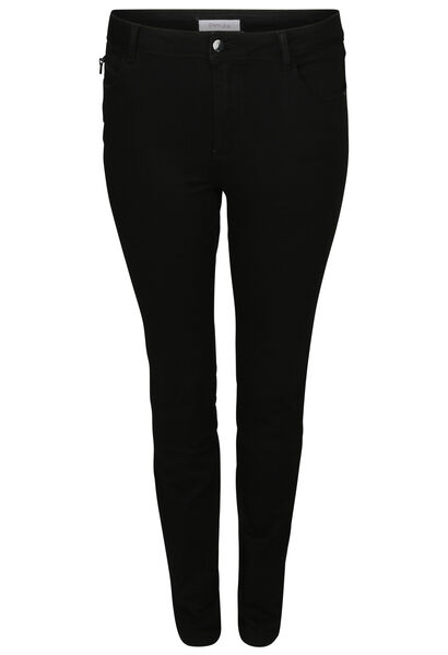 Extra lange, smalle broek - Zwart