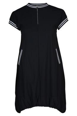 Robe tunique en maille gerbeau, Marine
