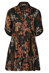 Robe imprimé fleurs et rayures
