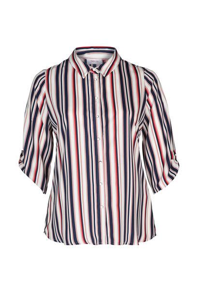 Chemise à rayures - Marine