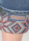 Jeans met borduurwerk onderaan, Denim