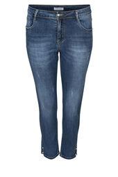 Jeans slim 7/8 détails perles